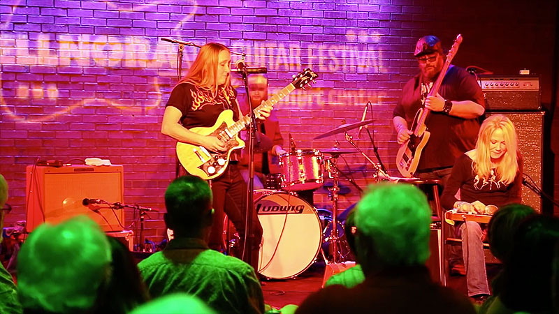 Fiona Boyes and Cindy Cashdollar at ELLNORA - The Guitar Festival