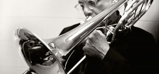 David Taylor plays the bass trombone