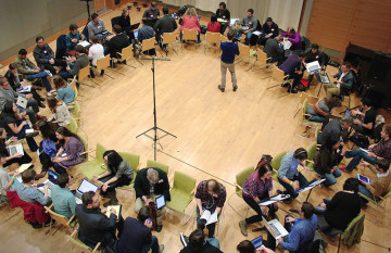 Composer Performer Speed Dating at NMG2015 — at San Francisco Conservatory of Music.