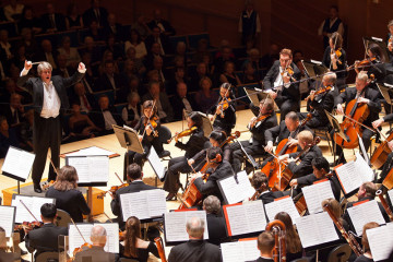 Kansas City Symphony performs before an audience