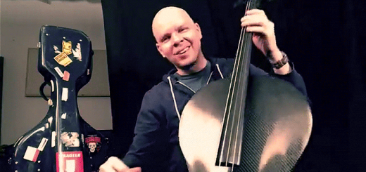 Eric Stephenson plays a black cello