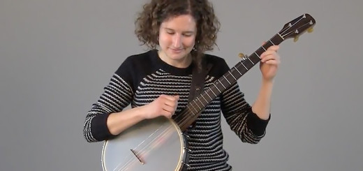 Red Tail Ring's Laurel Premo demonstrates the banjo