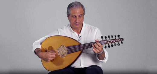 Bassam Saba demonstrates the oud
