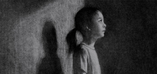 Charcoal sketch of a young girl staring off