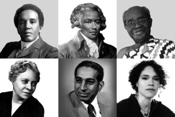 A grid of black composer portrait photos